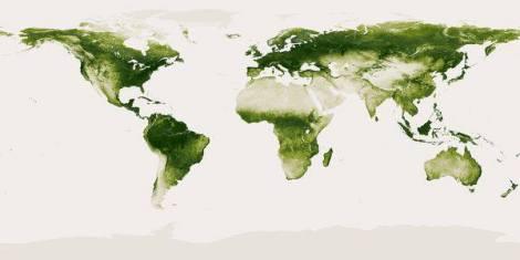 نقشه پوشش گیاهی دنیا