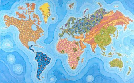 نفشه ی بیماری ها در جهان