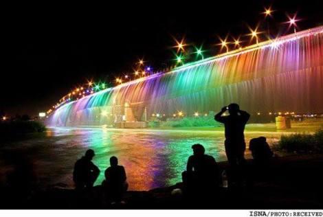 طولانيترين آبشار مصنوعي كشور - اهواز