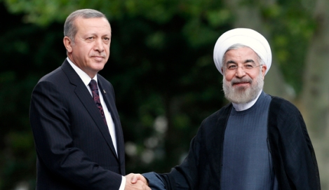 Rouhani is welcomed by Erdogan in Ankara