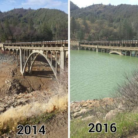 California's lake recovery from drought