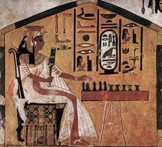A painting in Queen Nefertari's tomb.