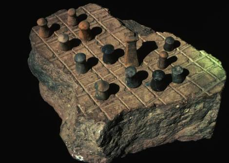 Ancient Chess Board - Checkerboard patterns can be found back into early christian churches and until the ancient Egyptians.